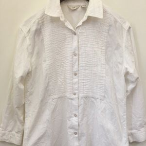 J. Jil small oversized Corduroy Button Down Shirt